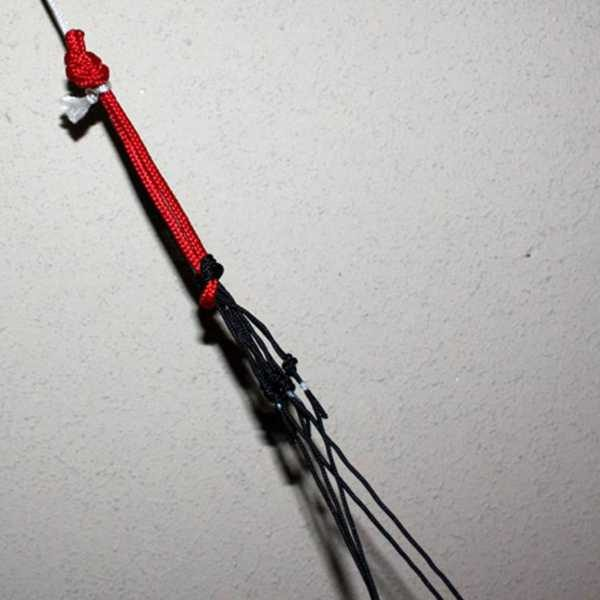 detail of bridle strings in calibre power foil kite