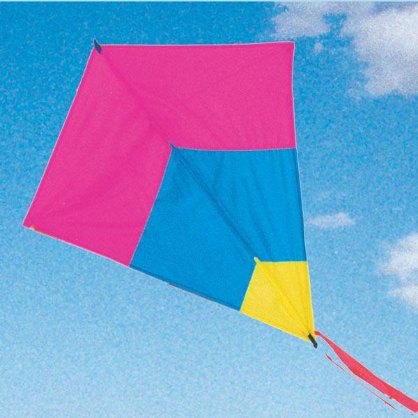 image of Australian made kids diamond tricolour kite