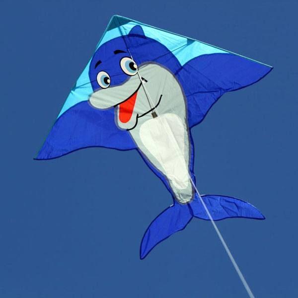 Dolphin kite for kids in the sky