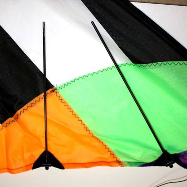 stitching detail of Firestorm stunt kite for teenagers and adults