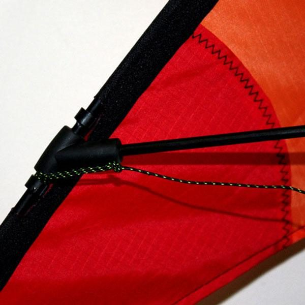 Rods detail on Ikon stunt kite for teens and adults