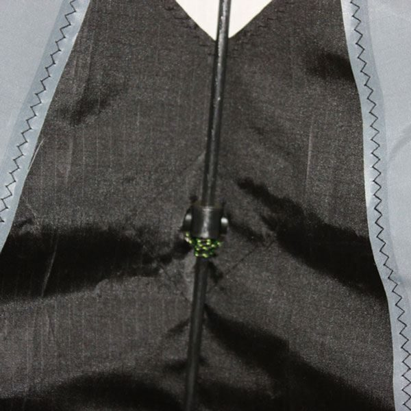 close up to show stitching on Ikon dual control kite