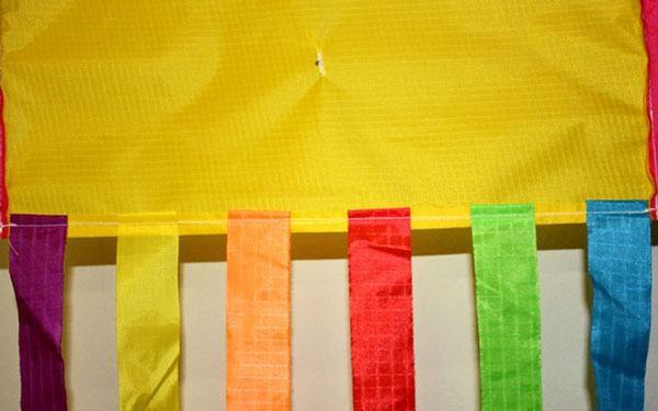 photo of Jellyfish childrens kite showing stitching detail