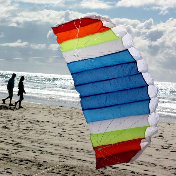 Nitro foil stunt kite in morning sun