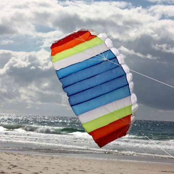 Nitro dual control foil hovering above the sand
