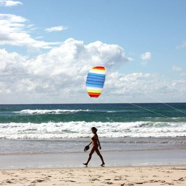 Nitro stunt foil above girl on beach to show 1.5m size