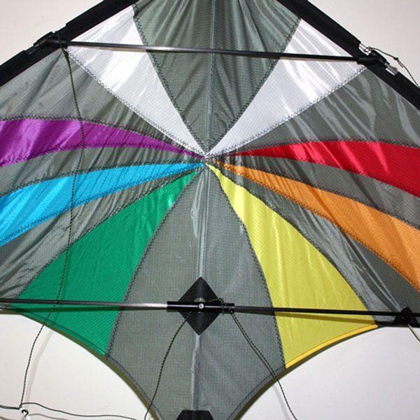 Backdraft dual control stunt kite close up
