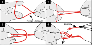 diagram of how to tie a larks head kite knot
