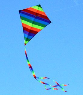 sma Rainbow Diamond single string kids kite in the sky