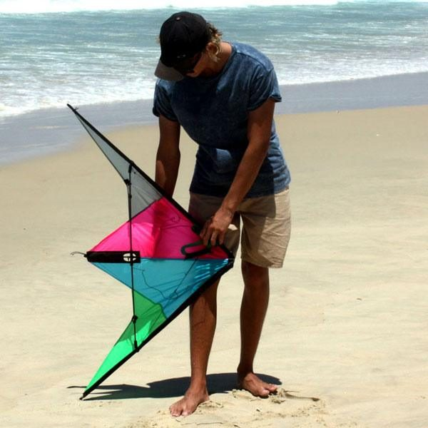 Razorback high performance kite against teenager to show size