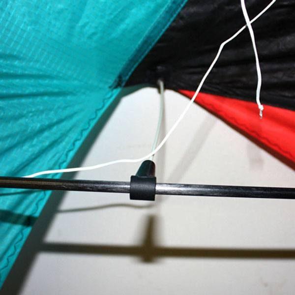 Wind Dancer stunt kite close up showing stand offs