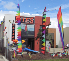 image about leading edge kites shop at Currumbin