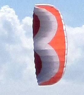 Addict 2.4m parafoil stunt kite