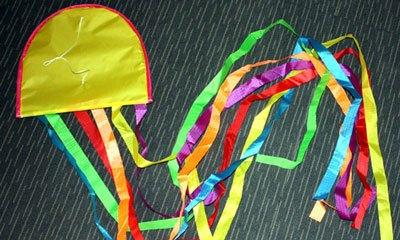 Jellyfish single string kite. No assembly needed