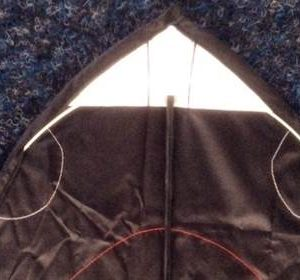 details of the spreader rod in the head of a single line shark kite