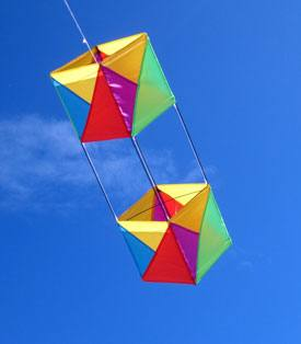 Box kite flying