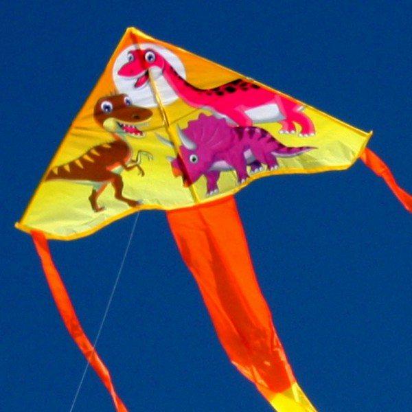 Dinosaur design single string kite for kids in the sky