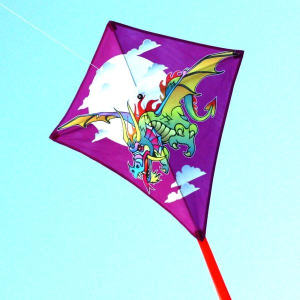 Dragon single string diamond kite