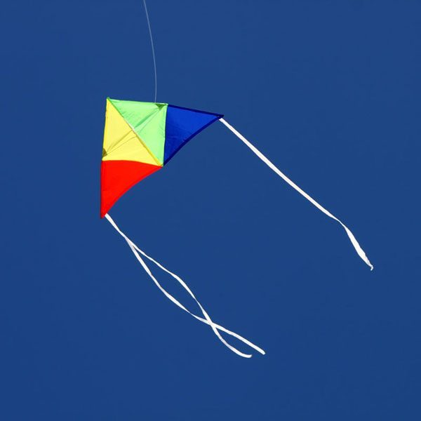 Junior Delta Australian made single string kite for kids in the sky