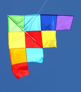 magnificent single string patchwork delta kite