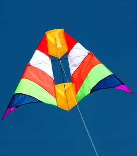 beautiful cell delta single line kite with box kite built in the middle