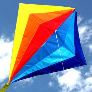 Sparkles diamond kite for kids close up
