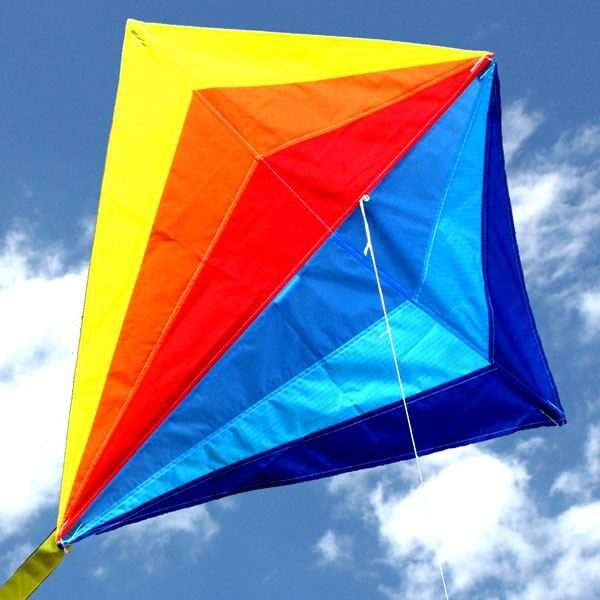 Sparkles diamond kite for kids close up