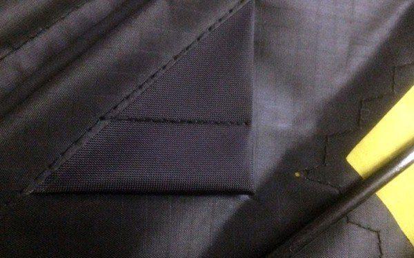 image showing detail of pockets on sunrise delta light wind kite