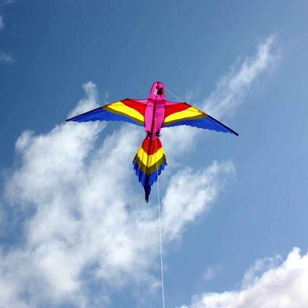 Bird shaped kite for kids in flight