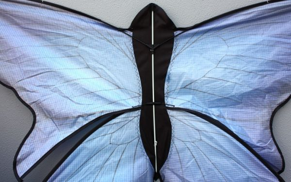 Joiner detail of blue butterfly kids kite for sale
