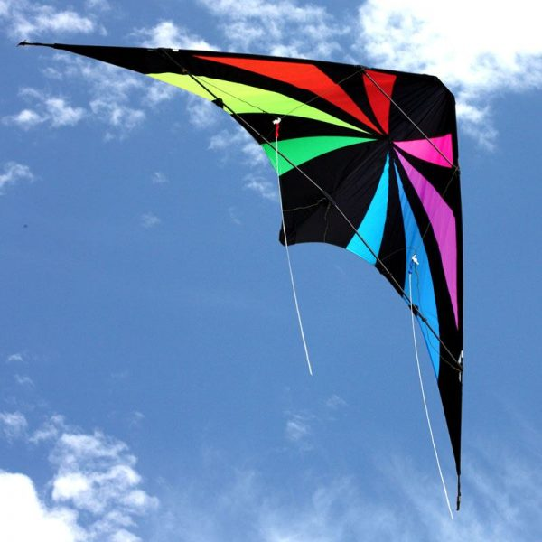 Fluid dual control stunt kite in flight from Leading Edge Kites in Australia