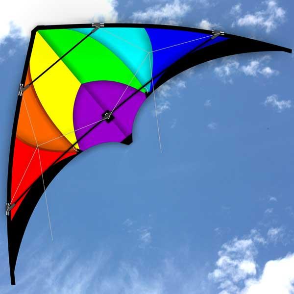 1.3m wingspan Monsoon Stunt Kite in the sky