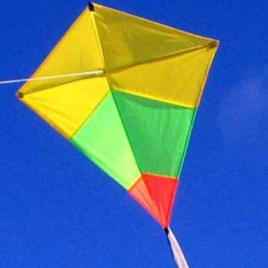 Australian made childrens kite Diamond Tricolour