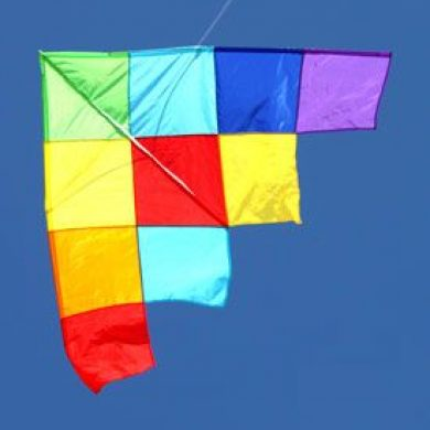 magnificent single string patchwork delta kite