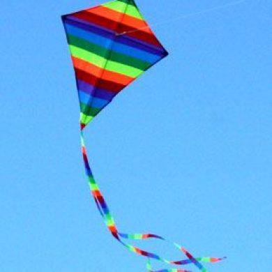 sma Rainbow Diamond single string kids kite in the sky