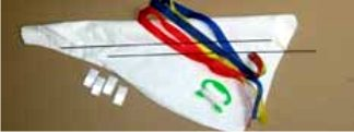 components in a kite making kit